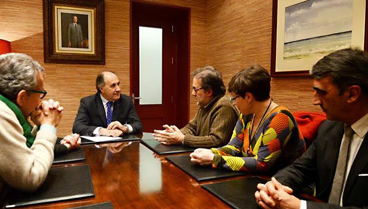 Encuentro con el alcalde de Algeciras, José Ignacio Landaluce.