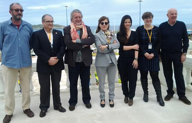 Nueva directiva de la FAPE, con las andaluzas María José Pacheco e Inmaculada Ramos, segunda y tercera por la derecha.