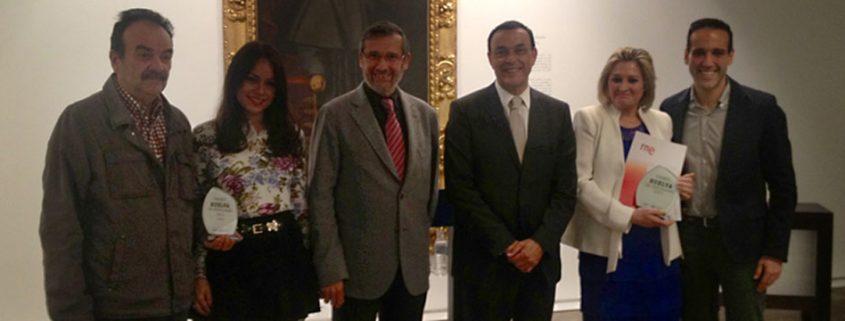 Ferrer y Leal reciben el Premio Huelva de Periodismo 2013.