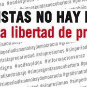 Sin periodistas no hay periodismo. Por la libertad de prensa. 3 de mayo