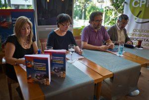 Teresa Vera, Trinidad Núñez, Antonio Manfredi y Rafael Terán, en la presentación del libro. (Foto Julian Pérez)