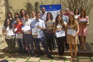 Ganadores del certamen 'Jóvenes periodistas'.