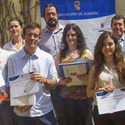 Ganadores del certamen 'Jóvenes periodistas' de Almería.