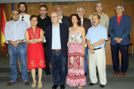 Foto de familia de la constitución de la Plataforma por los Derechos de Autor de los Periodistas.
