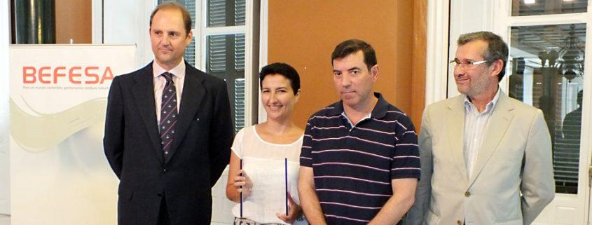Entrega del I Premio de Periodismo Medioambiental Befesa.