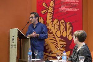 El periodista Daniel Pérez, durante su intervención.