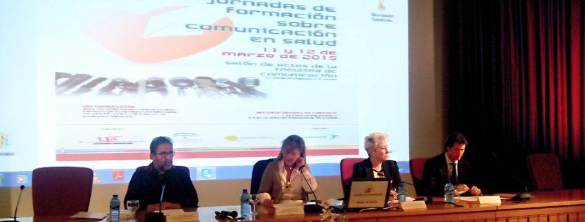 Un momento de las jornadas sobre comunicación en salud, celebradas en la Facultad de Comunicación de Sevilla.