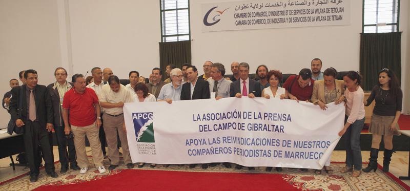 Participantes en una de las anteriores ediciones del Congreso de Periodistas del Estrecho.