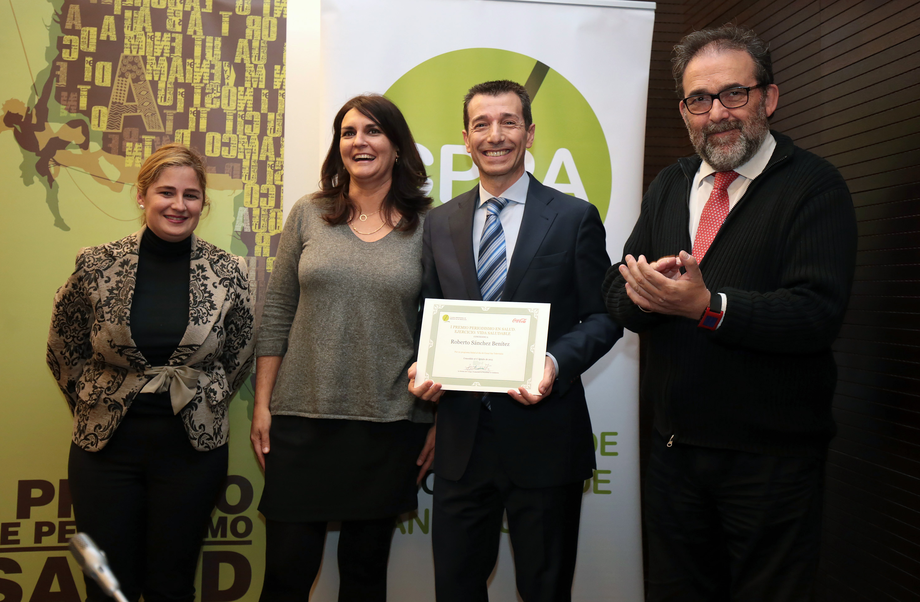 De izquierda a derecha en la image, Beatriz Codes, Eva B. Navarrete, Roberto Sánchez y Antonio Manfredi