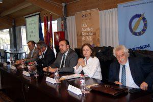 De izquierda a derecha: Jesús Díaz del Campo Lozano, Carlos Martos, Juan Antonio De Heras, Marisa Ciriza y Manuel Núñez Encabo