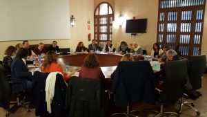 Reunión de trabajo de los responsables de los distintos Colegios y Asociaciones que se dieron cita en Sevilla