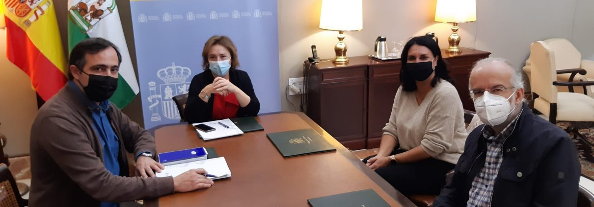 Reunión con la delegada del Gobierno en Andalucía