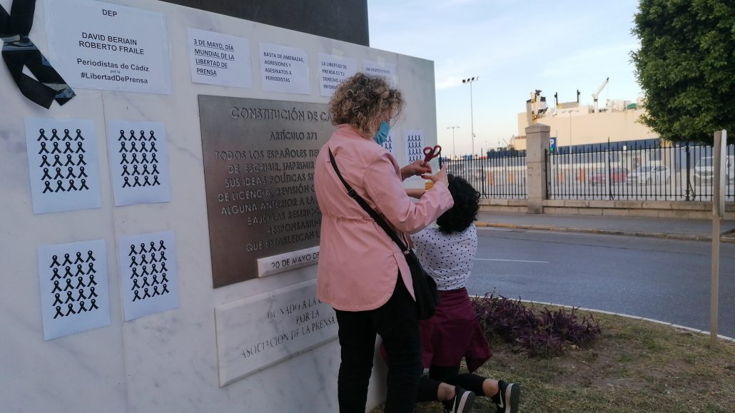 periodistas de cádiz por la libertad de prensa
